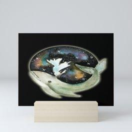 Watercolor Painting Galaxy Whale Mini Art Print