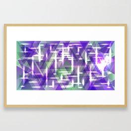 Spring pastel purple shiny triangles. Framed Art Print