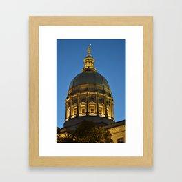 City Capital Framed Art Print