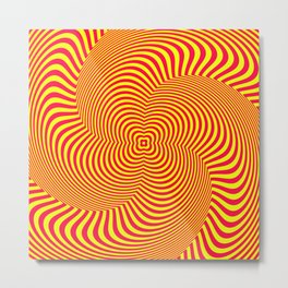 Red and Yellow Spiral illusion art Metal Print
