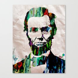 Abraham Lincoln 2017 Watercolor President Art Painting Pop ART Canvas Print