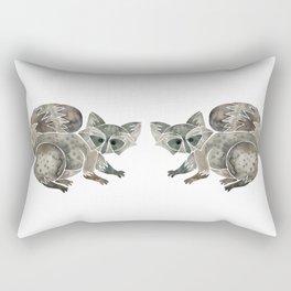 Raccoon – Warm Grey Palette Rectangular Pillow