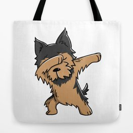 Funny Yorkshire Terrier Dabbing Tote Bag