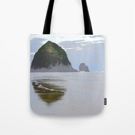 Illustrated Haystack Rock Tote Bag