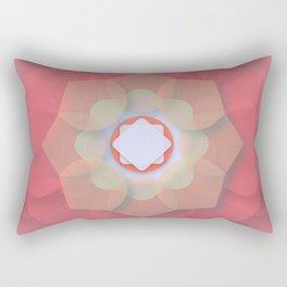 Pink Floral Meditation Rectangular Pillow