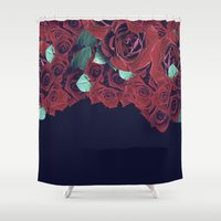 roses Shower Curtains featuring Roses by Eleaxart