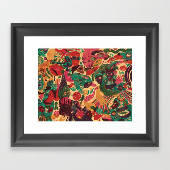 Sense Improvisation Framed Art Print