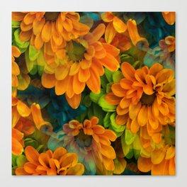 Orange Floral Bouquet Canvas Print