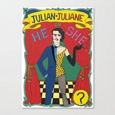 Julian/Julianne Canvas Print