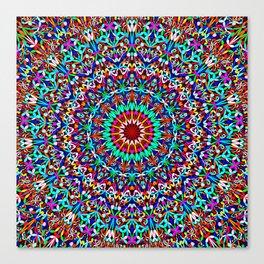 Colorful Life Garden Mandala Canvas Print