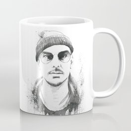 Shannon Leto Watercolor Black & White Coffee Mug