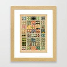 Symetric comic's patterns Framed Art Print