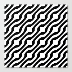 Marvin (black on white) Canvas Print
