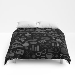 Grey and Black Science Pattern Comforters