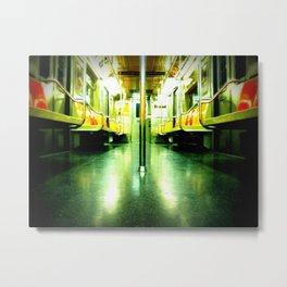 Subway Symmetry Metal Print