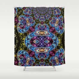 BBQSHOES: Fractal Design 1020C Digital Psychedelic Art Shower Curtain