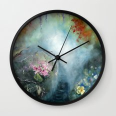 Spring paradise painting Wall Clock
