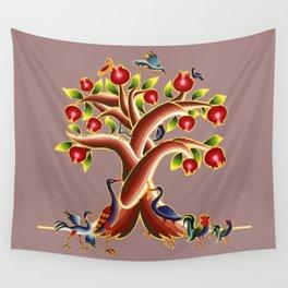Pomegranate Tree Illumination Wall Tapestry