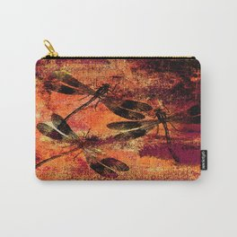 Black Dragonflies Carry-All Pouch