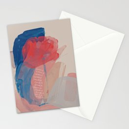 Inhale, Exhale - Abstract Stationery Cards