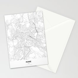 Rome, Italy Minimalist Map Stationery Cards