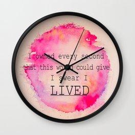 I LIVED Wall Clock