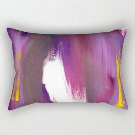 Royalty: a bold, colorful abstract piece in vibrant purples and yellow Rectangular Pillow