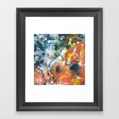 Color Commentary #13: Gone Snorkeling (Prussian Blue & Orange) [Lise Bjerregaard Nielsen] Framed Art Print