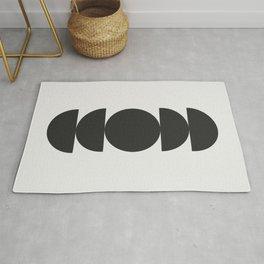 Mid century modern abstract art Rug