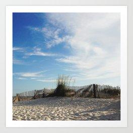 Waves of Sand Art Print