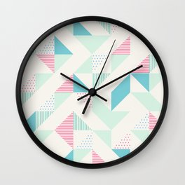 Triangle Geometry Wall Clock