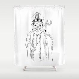 The Pug Shower Curtain