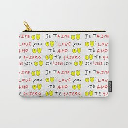 Je t'aime 7-i love you,je t'aime,te amo,te quiero,ich liebe dich,love,romantism,romantic,heart,cute Carry-All Pouch