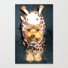Dog | Happy Giraffe | Yorkie Puppy | Dogs | Puppies | Pets Canvas Print