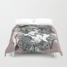 home textile duvet cover blue love letter printed cotton bedding