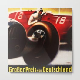 1937 Grand Prix Motor Racing Nurburgring Germany Vintage Advertising Poster Metal Print
