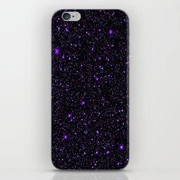 Purple Galaxy Space StarS iPhone Skin