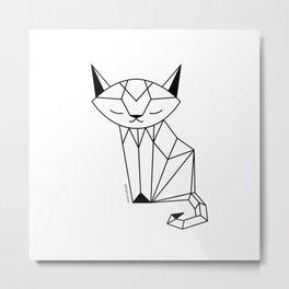 Cherished Cat Metal Print