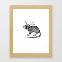 Unicorn Rat Framed Art Print