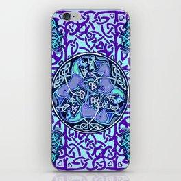 7 Blue Celtic Horses iPhone Skin