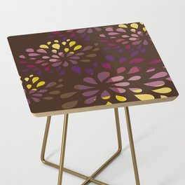 Dark drops Side Table