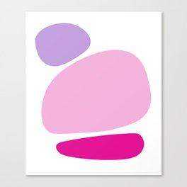 Fun retro style abstract print in soft pastel colours Canvas Print