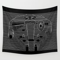 joy division Wall Tapestries featuring Millenium division by BomDesignz