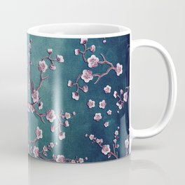 SAKURA LOVE  GRUNGE TEAL Coffee Mug