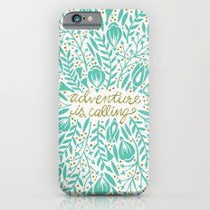 Adventure is Calling – Turquoise & Gold Palette Slim Case iPhone 6s