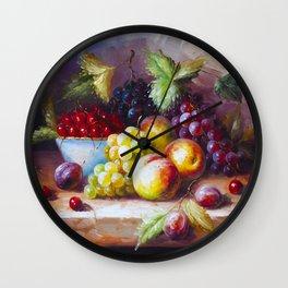 autumn sweets Wall Clock