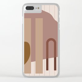 // Shape study #25 Clear iPhone Case