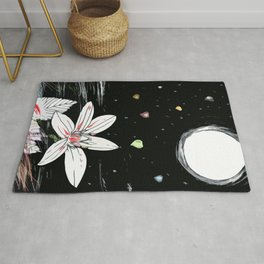 Raining Hearts - Blooming Flower-Valentine's day Rug
