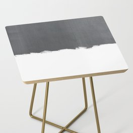 White Paint on Concrete Side Table