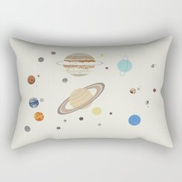 The Solar System - Planets, Moons, and Dwarf Planets Rectangular Pillow